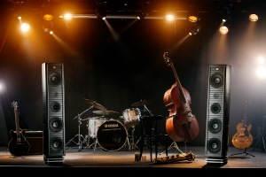 Gamut RS9 loudspeaker - shown on stage