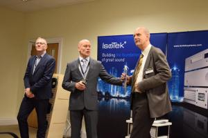 Show host Paul Miller introduces IsoTek's Bjørn Hegelstad