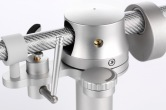 Tracer tonearm with silver finish - side detail