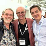 Dave Denyer with RTM's Jean-Luc Renou & Theo Gardin