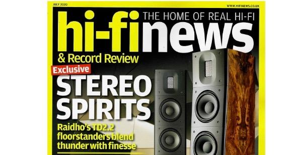 "Hi-Fi News on the ""tantalising drivers"" of Raidho's TD2.2 loudspeaker"