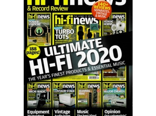 "Hi-Fi News Yearbook 2020:  Audio Analogue, Dan Clark Audio, Exposure and Scansonic among 2020's ""jewels of high-end audio"""